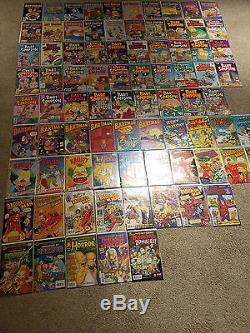 Bongo Comics HUGE 203 Issue Simpsons Comic Book Lot NM Bart Simpson One Shot TPB