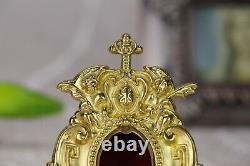 Brass ornate Reliquary for church or home Relic +Religious X3