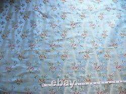 Bty Garden Trail 100% Silk Lampas French Lace Orchid Cornflower Blue 1378