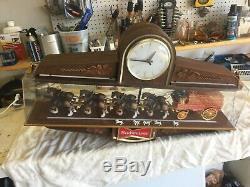 Budweiser Carousel & Budweiser Clock (2 items)