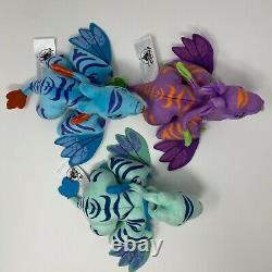 COMPLETE Disney Wishables PandoraWorld of Avatar TealBluePurple Banshee & BAG