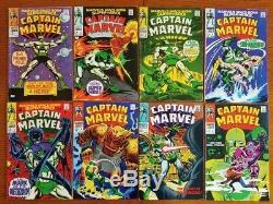 Captain Marvel 1-37, 44-47, 49-51, 53-56, 58-61 Silver Bronze Age 52 Comics Lot