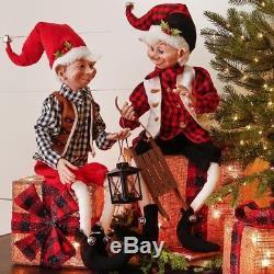 Christmas Winter Elves in Flannel set of 2 30 in cto 3702531 RAZ