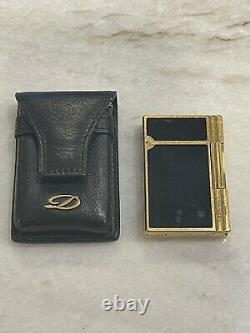 Cigar Lighters Lot Cartier (2), S. T. Dupont (1), Colibri (2), 18k Gold, Laque