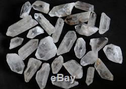 Clear Quartz Points 1 lb Lot 1.0 -2.0 WHOLESALE Bulk Quartz Crystals Rough SALE