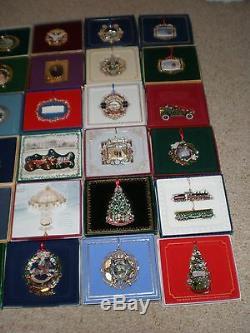 Complete Set / Lot (38) White House Historical Association Ornaments 1981 2018