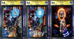 Cosmic Ghost Rider Destroys Marvel History # 1 CGC 9.8 SS 3-Set Signed Greg Horn