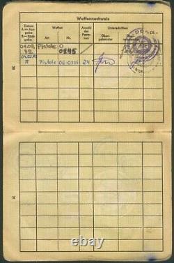 DDR seltener Wehrdienst-, Dienstausweis+Sprenggenehmigung MDI/Polizei Horst Gahr