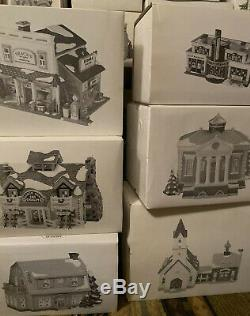 Department 56 Christmas Snow Village HUGE Lot 100+ Pieces SEE PHOTOS Read Desc
