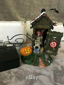 Department 56 Halloween Lot Of 8 Retired Lighted Village Accessories
