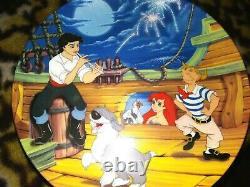 Disney Little Mermaid Knowles China Ltd. Ed. Bradex Full Plate Set Of 8, Mint, New