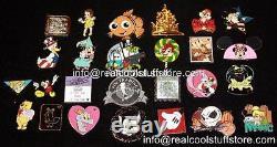 Disney Pin Lot 250 Few Duplicates FREE US Shipping