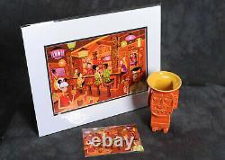 Disney SHAG Trader Sam's TIKI MUG & Deluxe Matted Print & Postcard Set