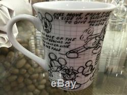 Disney Sketch Mickey Mouse Set of 12 6-Dinner Plates and 6 Mugs