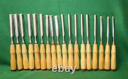 EXQUISITE (18) Pcs LOT NOS NewithOld/Stock Vintage BUCK BROTHERS Gouges Inv#MW06