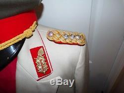 East German General Officer's Formal Dress Uniform, White Tunic, Pants, Visor