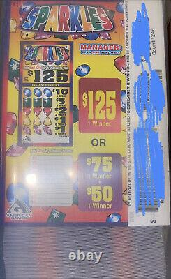 FREE SHIPPING SPARKLES bundle lot of 4 pull tabs tickets casino fundraising