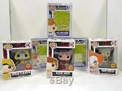 FUNKO POP! MOVIES IT PENNYWISE WithBOAT CHASE MINT PLUS 2 MORE CHASE POPS