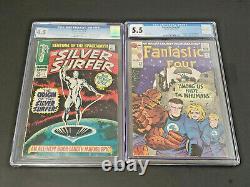 Fantastic Four 45 49 50 Silver Surfer 1 CGC 4.5 5.5 1st App Inhumans Galactus