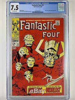 Fantastic Four 75 CGC 7.5 76 CGC 8.0 Silver Surfer! Galactus