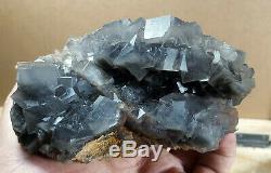 Fluorite Specimens Lot Natural Purple Blue Cubic Formation Crystals 4.2kg 10Pc