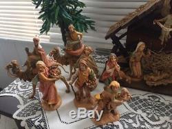 Fontanini Nativity Set Vintage Roman Depose Italy 22 PiecesSpider