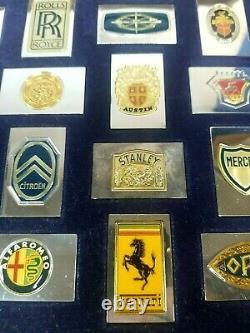 Franklin Mint Emblems Worlds Greatest Automobiles 50 Sterling Silver Ingot Set