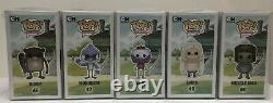 Full Set Regular Show Funko Pops With Pop Protectors Extremely Rare / Vaulted