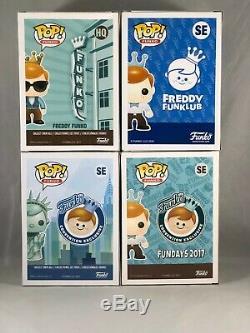 Funko POP! Freddy Funko Lot HQ with Sunglasses, Funklub, Statue of Liberty, GITD