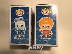 Funko POP! Heat Miser 01 Snow Miser 02 Year Without a Santa Claus MIB AWESOME