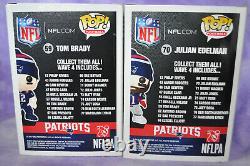Funko POP NEW ENGLAND PATRIOTS TOM BRADY 59, & JULIAN EDELMAN 70 SUPER BOWL NFL