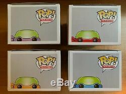 Funko POP Teenage Mutant Ninja Turtles Set of 4 #60-63 Vaulted