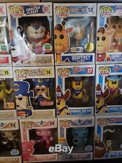Funko Pop! Ad Icons Lot Of 23 Monster Cereal Set Tony the Tiger, Trix, and more
