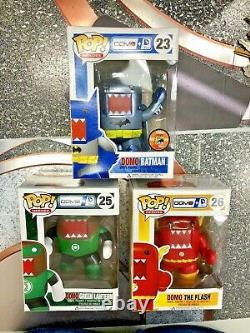 Funko Pop Domo Batman Domo Flash Green Lantern Domo Rare Sdcc
