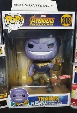 Funko Pop! Marvel Avengers Infinity War Chrome Rare Exclusive Full Set+more Read