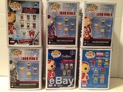 Funko Pop Marvel Iron Man Vinyl Figures Lot Of 6 # 04 11 23 24 26 66 Avengers