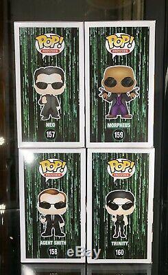 Funko Pop Neo Agent Smith Morpheus Trinity Matrix set