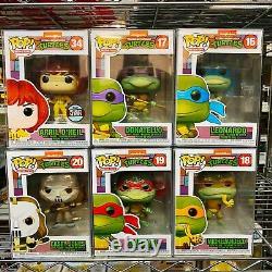 Funko Pop Retro Toys TMNT Teenage Mutant Ninja Turtles & Casey Jones Set of 6