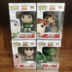 Funko Pop Toy Story 20TH Anniversary! Set of 4 Buzz, Woody, Hamm & Rex Vinyl