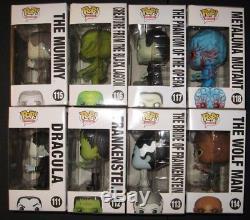 Funko Pop Universal Monsters Set All 8 Dracula Frankenstein Bride Creature +4NIB