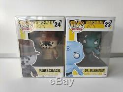 Funko Pop Watchmen Rorschach and Dr. Manhattan Rare Vaulted