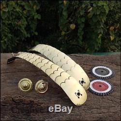 GERMAN PICKELHAUBE PRUSSIAN HELMET BRASS LEATHER Chin Strip Belt Set Handmade