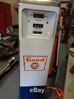 Gulf gas pump Vintage original antique fueling Erie NOT A REPLICA For Both pumps