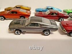 HOT WHEELS RED LINE MUSTANG LOT OF 8, V series close to MINT, Rainbow collection