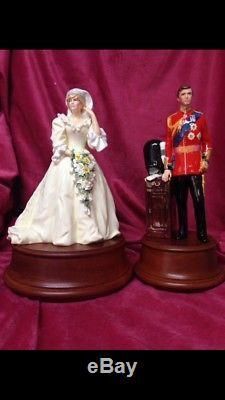 HTF Set ROYAL DOULTON FIGURINES HRH Prince & Princess of Wales CHARLES & DIANA
