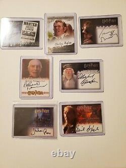 Harry Potter Signature Card Lot