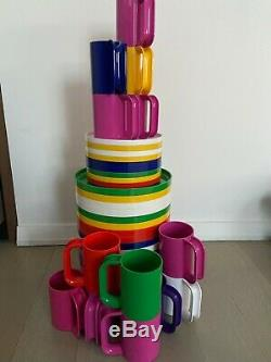 Heller Massimo Vignelli Dinner Plates and Mugs 1970s (40 pieces set)