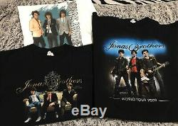 Huge Jonas Brothers Collection Lot of 48 Tour Shirt CD DVD Book Signed Poster