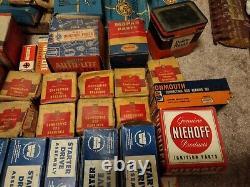Huge lot of 1940's -1970s NOS Car Engine Parts Hardware Mopar Autolite In Boxes