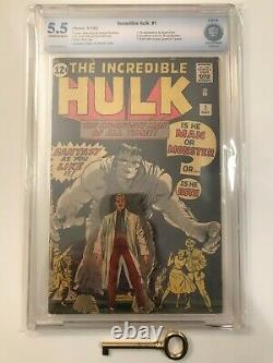 INCREDIBLE HULK #1 CBCS 5.5 (like CGC) Origin & 1st Hulk! Avengers! Holy Grail